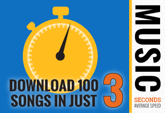 Download 100 Songs in Just 3 Seconds (Average Speed)
