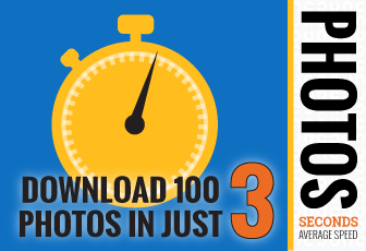 Download 100 Photos in Just 3 Seconds (Average Speed)